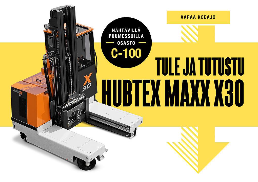 Varaa Hubtex MaxX -koeajo