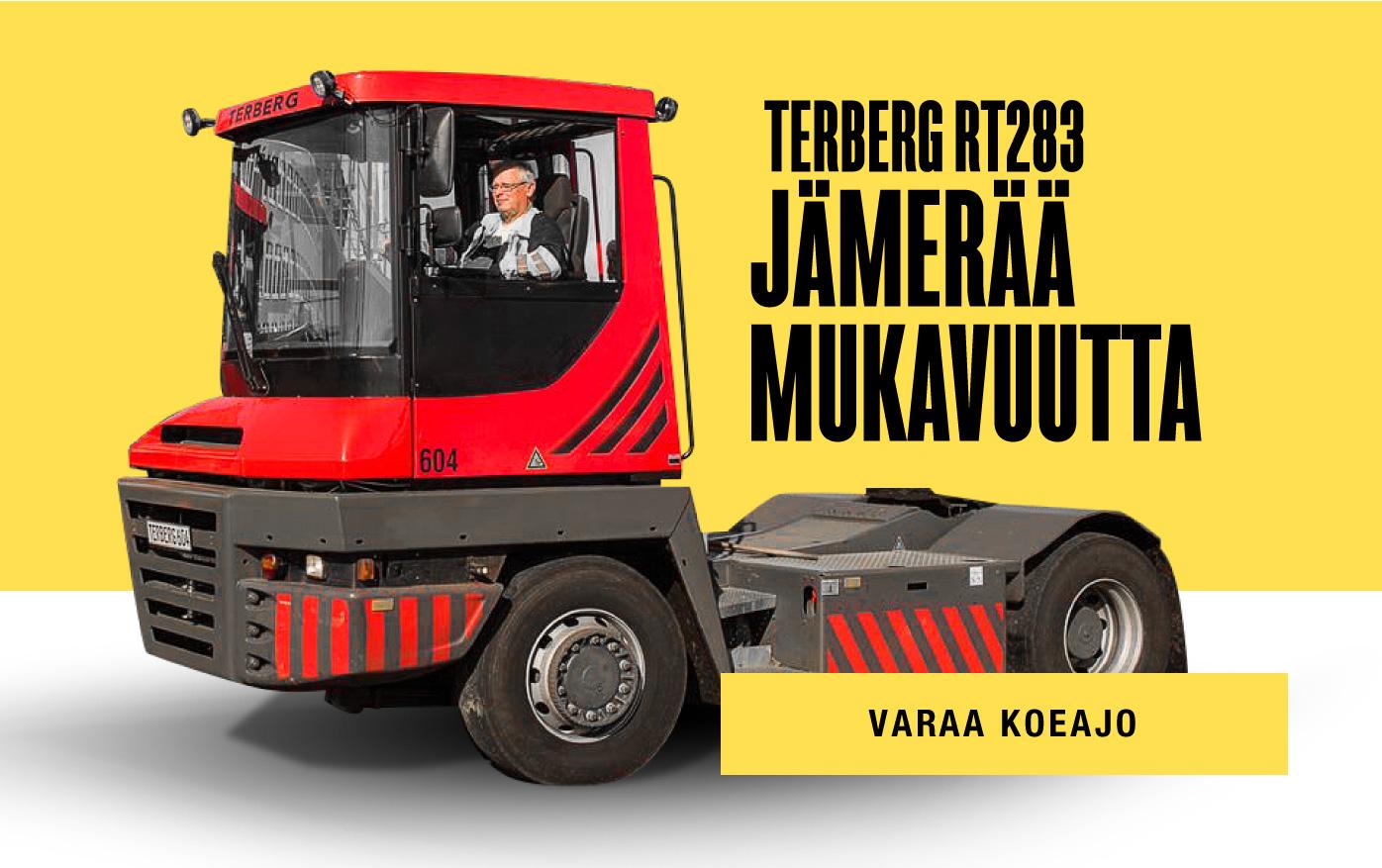 Tervetuloa koeajamaan Terberg RT283
